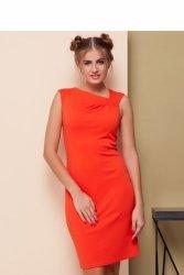 Sukienka z asymetrycznym dekoltem GR1539 Orange