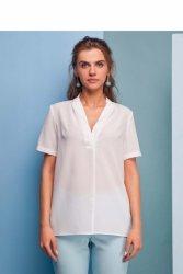 Delikatna bluzka z krótkim rękawem GR1365 White