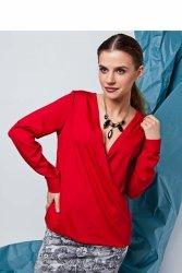 Bluzka o swobodnym kroju z długimi rękawami GR1329 Red