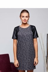 Sukienka z podwójnej dzianiny GR1320 Black