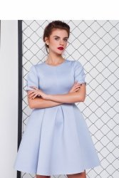 Sukienka z neoprenu GR1079 Sky Blue