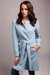 Płaszcz damski PLA026 baby-blue