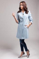 Płaszcz damski PLA029 baby-blue