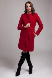 Płaszcz damski PLA025 rosso