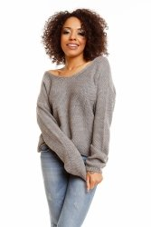 Sweter model 30047 Light Gray