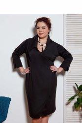 Elegancka sukienka XXL z zakładką Black
