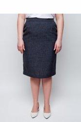 Kobieca elegancka spódnica ołówkowa TR1845 Indygo