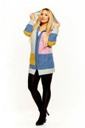Sweter damski L-XXXL ARES zapinany z kapturem