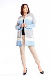 Dłuższy sweter w pasy