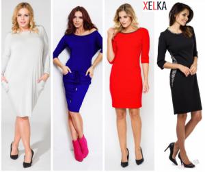 23a560d5e7 Sukienki duże rozmiary 36-60 - XELKA Sklep z odzieżą plus size
