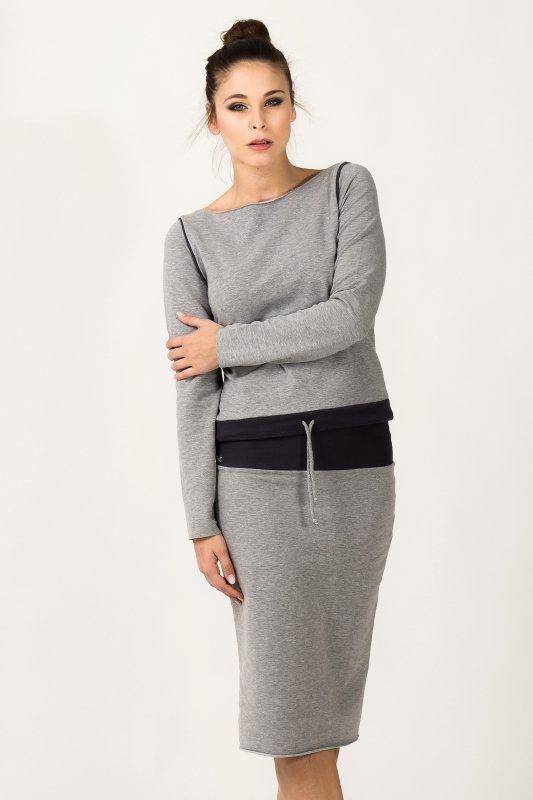 Bluza Damska Model Milena 6 Light Grey/Dark Grey