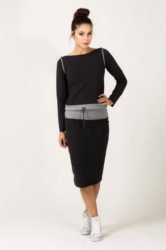 Spódnica Model Mila 5 Dark Grey/Light Grey