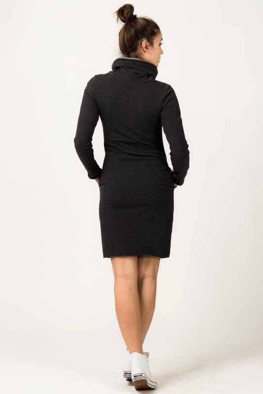 Sukienka Model Kaja 5 Dark Grey/Light Grey