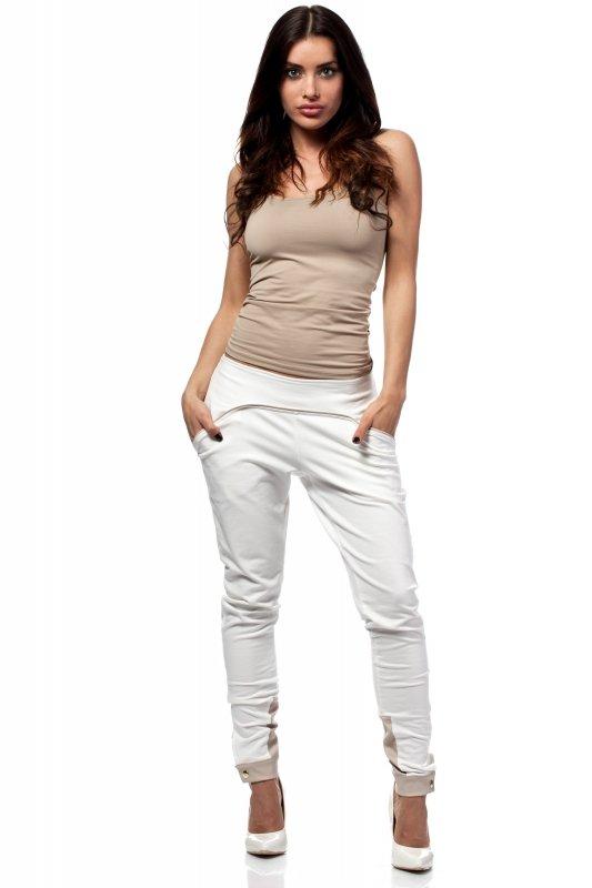 Spodnie-Damskie-Model-MOE157-Ecru-przod