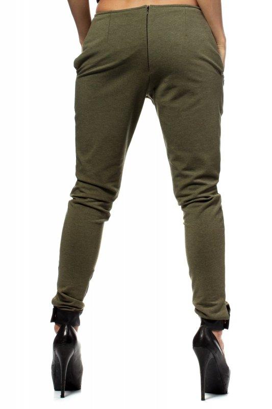 Spodnie-Damskie-Model-MOE157-Khaki-tyl