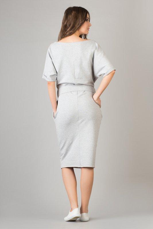 Sukienka Model Aleksandra 8 Light Grey