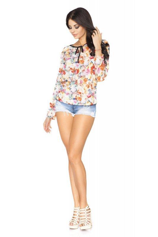 Bluzka Model Kornelia 5 Light Flowers/Black