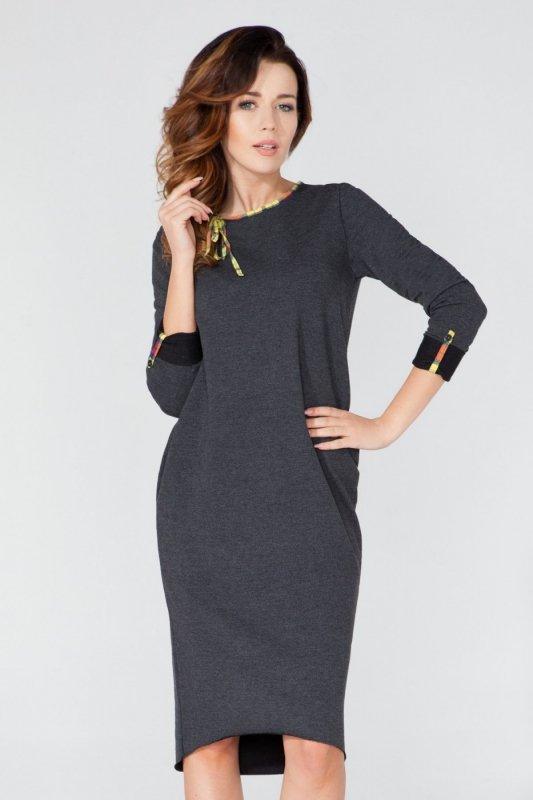 Sukienka Model T106 Dark Grey