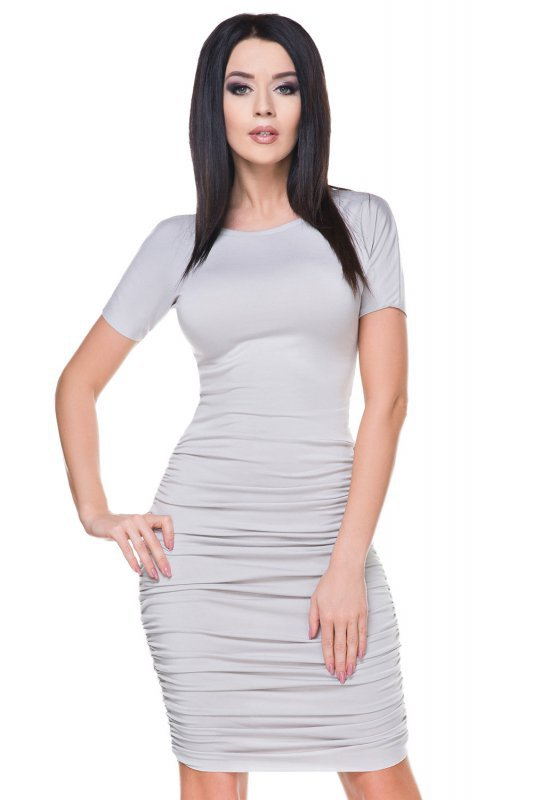 Sukienka Model T159 Light Grey