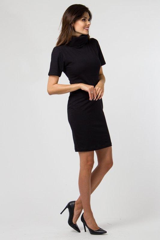 Sukienka dzianinowa M-036 Black