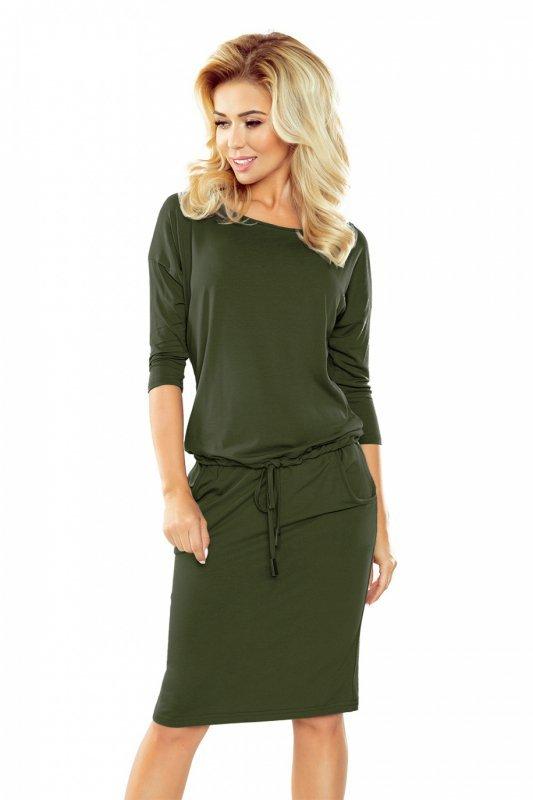 4f22e04830 Sukienka dzienna L-XL KHAKI Model 13-76 - XELKA odzież damska online ...