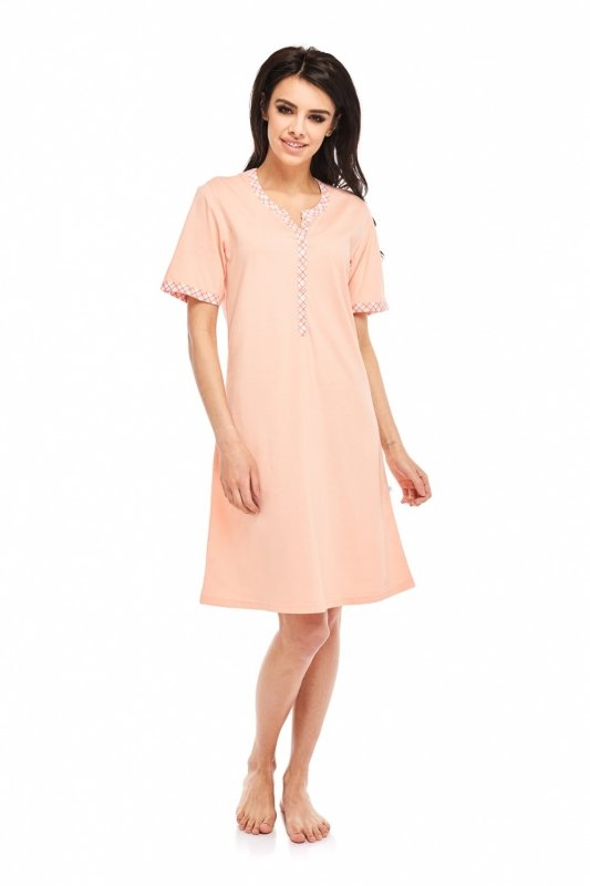 f8d2d9ca5d6bb3 Koszula Nocna Model Catherine 268 Łosoś - XELKA odzież damska online ...