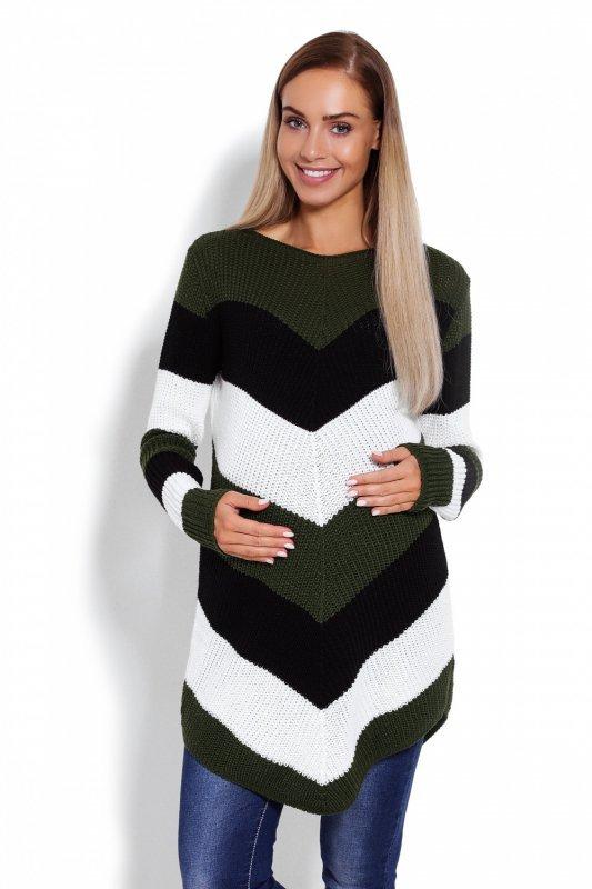 8ca0aa2a4c Sweter Ciążowy Model 40013C Khaki - Odzież ciążowa - Odzież - XELKA ...