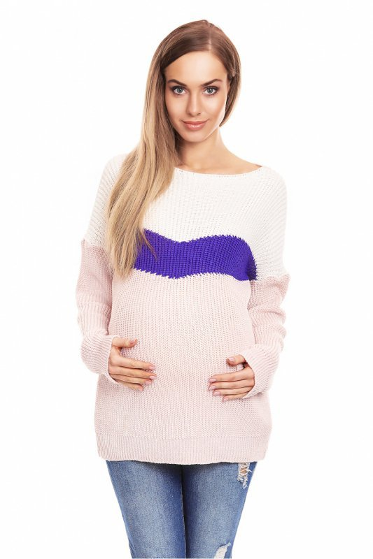 0d1ba3c3d8 Sweter Ciążowy Model 40023 Powder Pink - Odzież ciążowa - Odzież ...