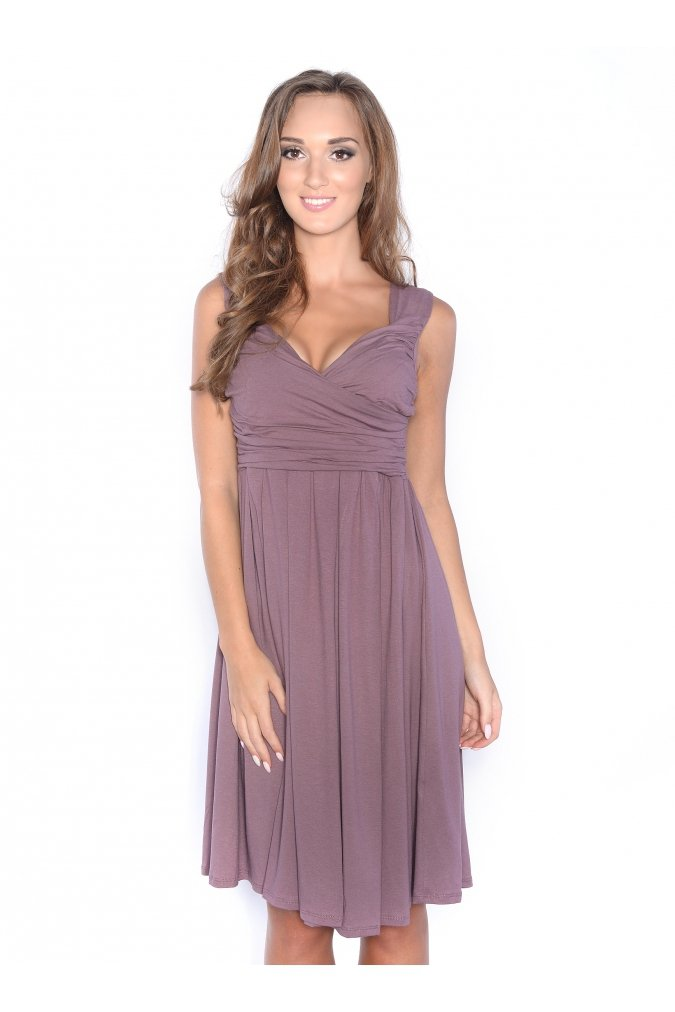 327aa3ff6d Sukienka plus size S-3XL rozkloszowana koralowa - XELKA odzież ...