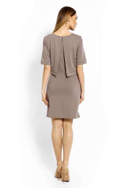 Sukienka Ciążowa Model 1623C Cappuccino