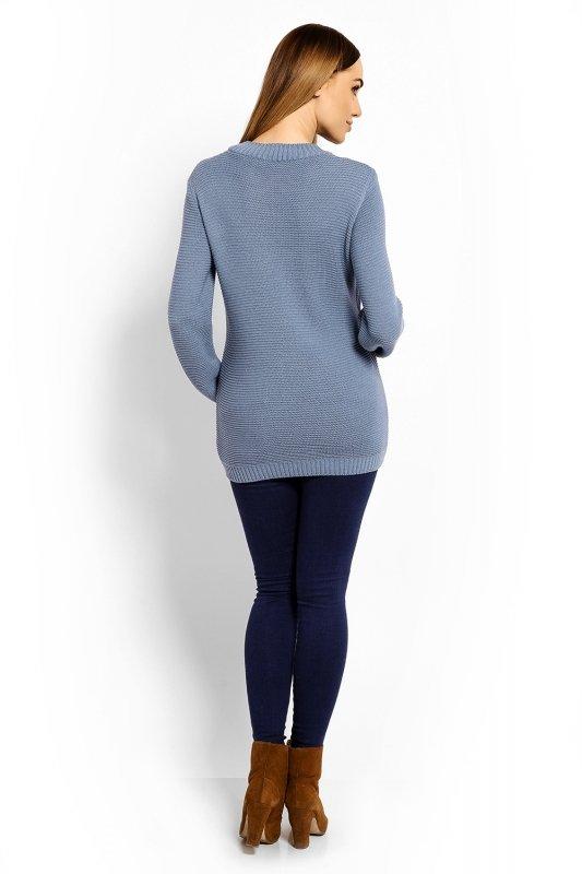 83b08fddcd Sweter Ciążowy Model 40001C Blue - Odzież ciążowa - Odzież - XELKA ...