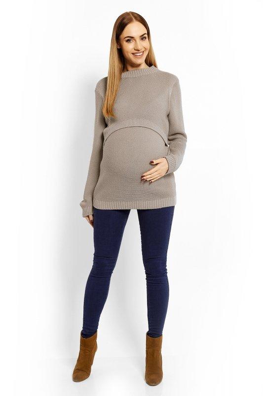 Sweter Ciążowy Model 40001C Cappuccino
