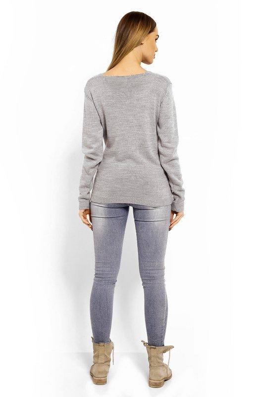 a620850c3b Sweter Ciążowy Model 40002C Grey - Odzież ciążowa - Odzież - XELKA ...