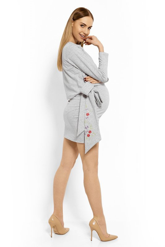 Sukienka Ciążowa Model 1624C Light Grey