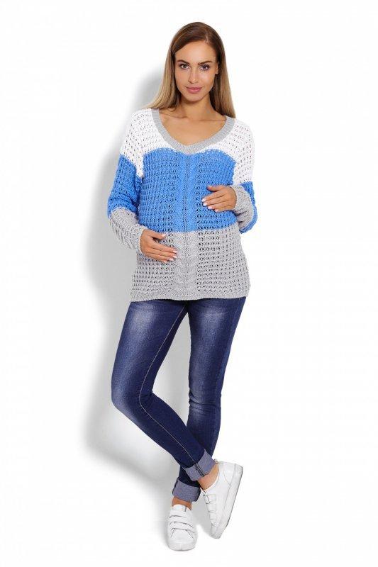 d99f9719cf Sweter Ciążowy Model 40008C Jeans Grey - Odzież ciążowa - Odzież ...