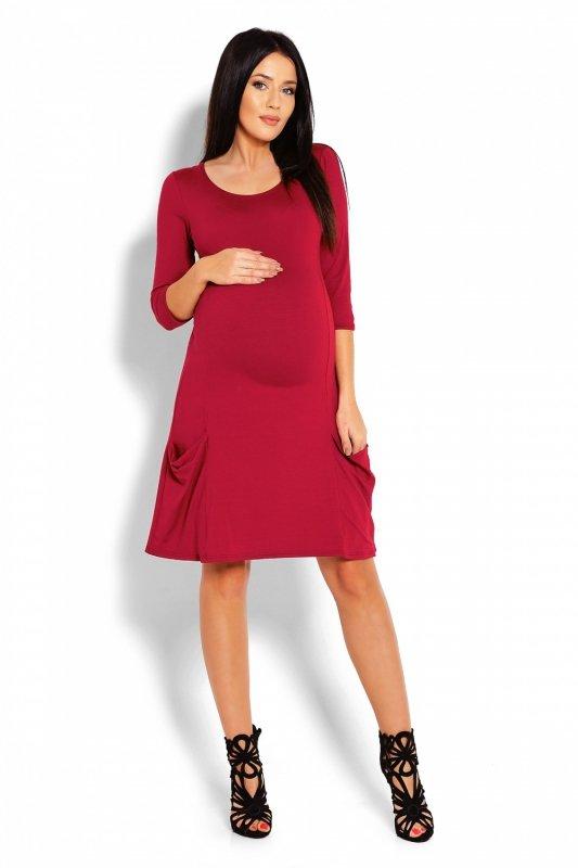 17b2e39c1e Sukienka Ciążowa Model 1166C Bordo - Odzież ciążowa - Odzież - XELKA ...