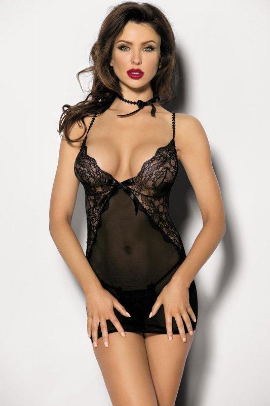 Komplet damski erotyczny XXXL Black OMORFI