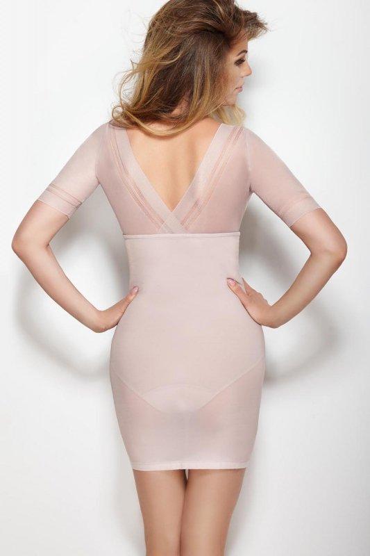 f6089fdd3e00a5 Halka Model Glossy Dress Powder Pink - Gorsety , Body , Pasy ...