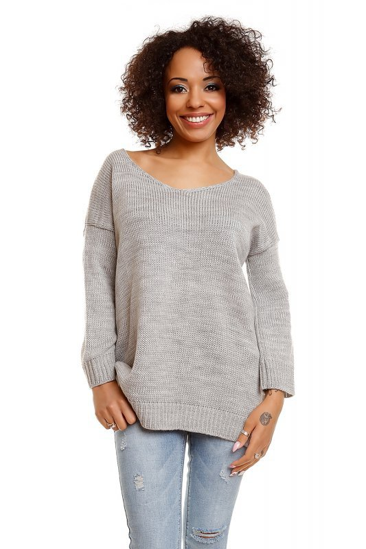 Sweter model 30045 Light Gray