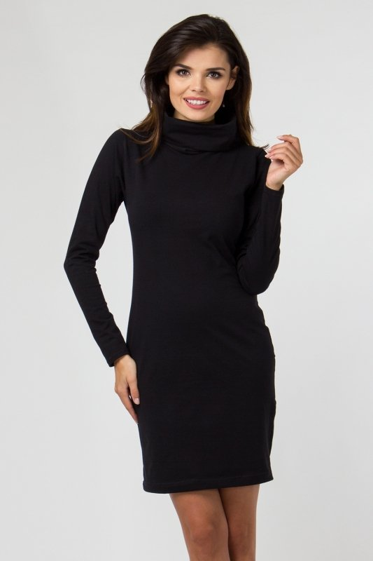 55f098ed9a Sukienka dzianinowa M-035 Black
