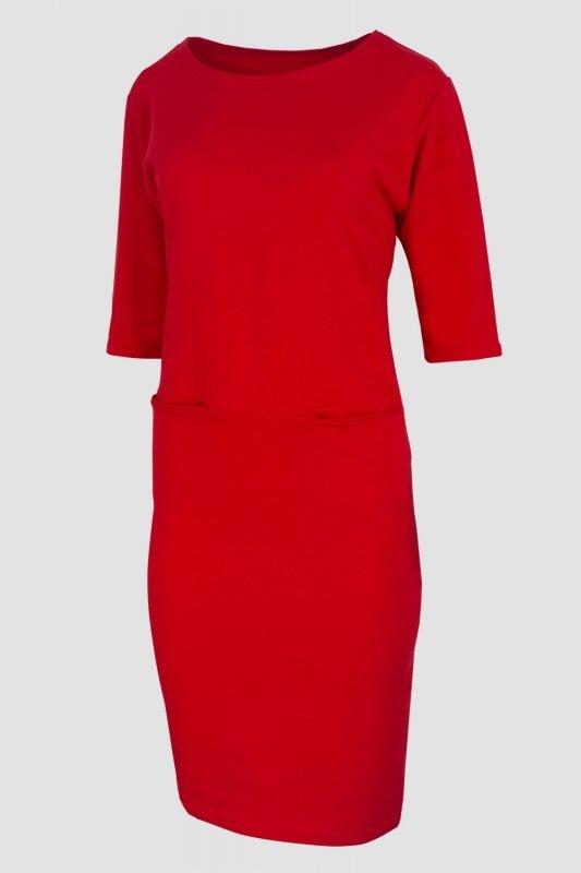 dresowa-czerwona-sukienka-plus-size-xxl-duze-rozmiary-sklep-z-odzieza-plus-size-bok