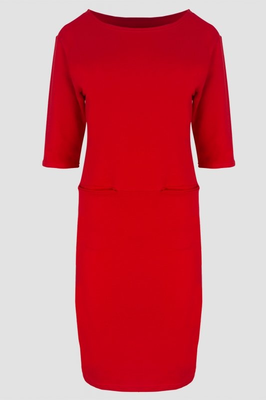 dresowa-czerwona-sukienka-plus-size-xxl-duze-rozmiary-sklep-z-odzieza-plus-size-tyl
