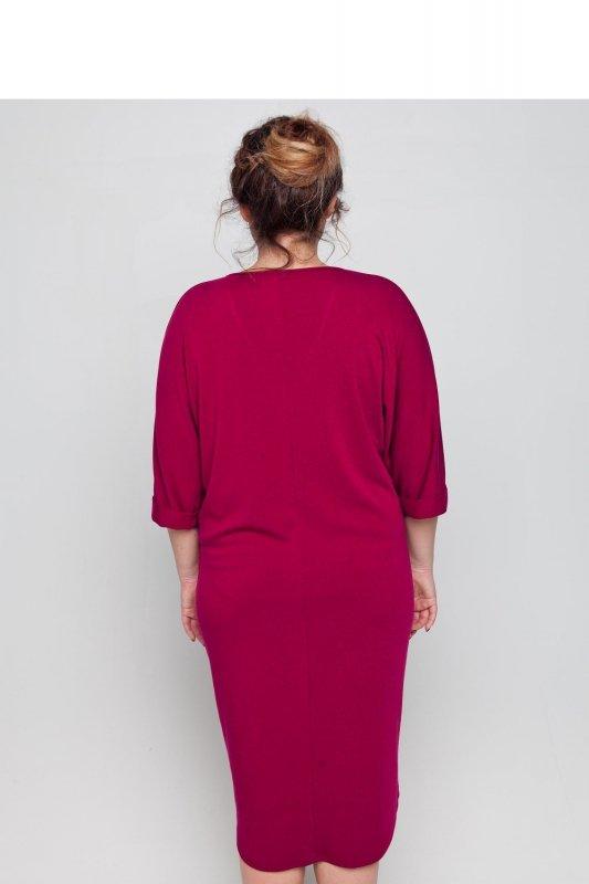 Sukienka-dzienna-plus-size-dla-puszystych-xl-xxl-48-52-Liliowa-tyl