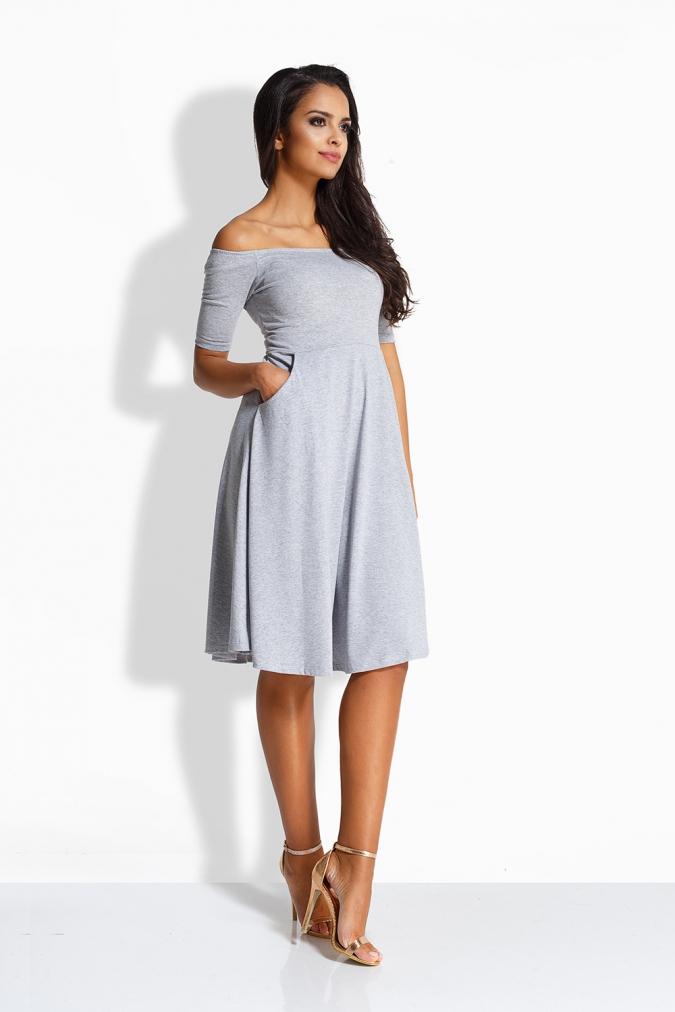Elegancka-sukienka-xl-xxl-MADAM-plus-size-S-3XL-hiszpanka-odkryte-ramiona-rozkloszowana-szara-popielata-randka-walentynki-bok