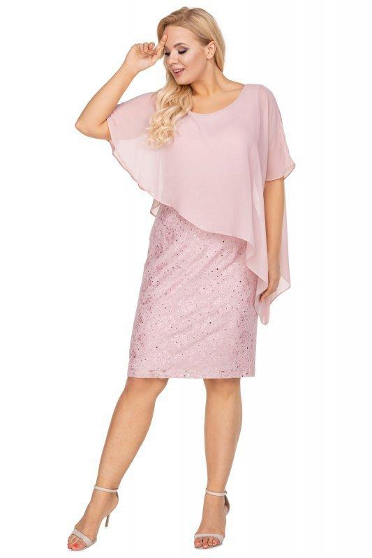 Elegancka sukienka WANESSA z tiulową woalką