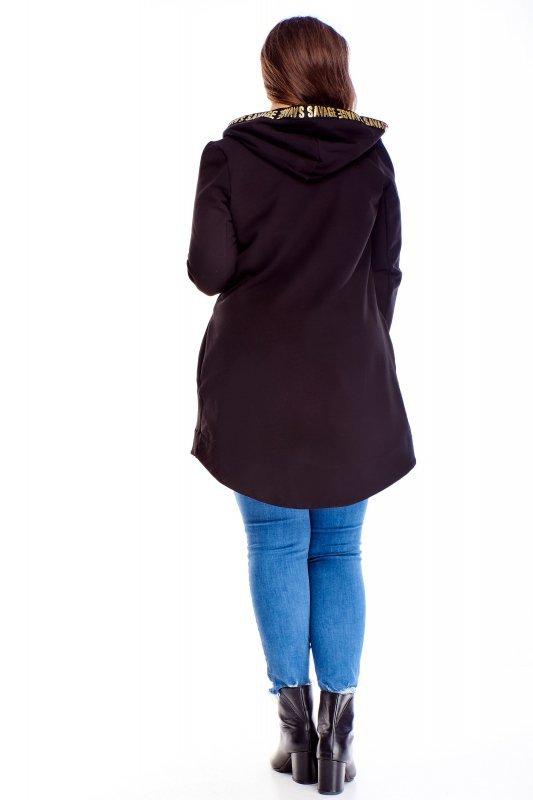 Długa bluza DOLORES z kapturem asymetryczna
