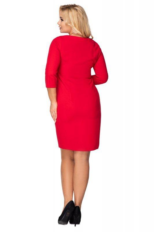 sukienka z ozdobnym ekspresem i paskiem