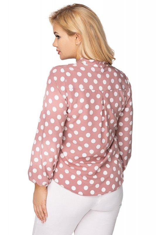 Elegancka-bluzka-damska-plus-size-dla-puszystych-KALINA2-o-koszulowym-kroju-xl-xxl-czerwona-do-biura-tyl
