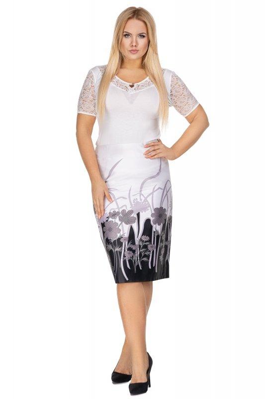 Elegancka-spodnica-plus-size-dla-puszystych-xl-xxl-KARINA-midi-kwiaty-chrzest-komunia-bierzmowanie