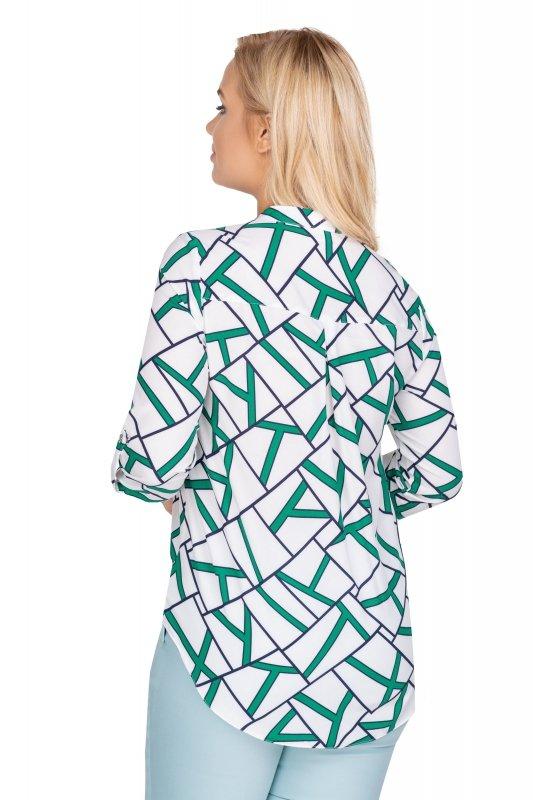 Granatowa-koszula-damska-plus-size-ZIGI3-xl-xxl-z-dekoltem-w-serek-dla-puszystych-do-pracy-elegancka-tyl
